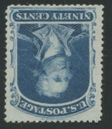 90c blue (39) unused, very faint thin, otherwise fine. $1,100.00
