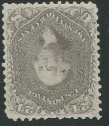 24c brown lilac (70a) centered, unused, thin, tiny tear, added perf., fine appearance, with P.S.A.G. certificate (2011). $1,150.00