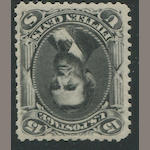 15c black re-issue (108) bright color and impression, o.g., few nibbed perfs at right, otherwise fine, with P.S.A.G. certificate (2011). $4,750.00