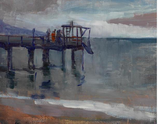 August Gay (American, 1890-1948) Pier 11 x 14in