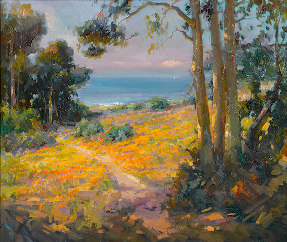 Ovanes Berberian (American, born 1951) View to the Pacific 30 x 36in