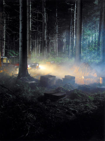 Gregory Crewdson (American, born 1962); Production Still (Man in the Woods No.4);