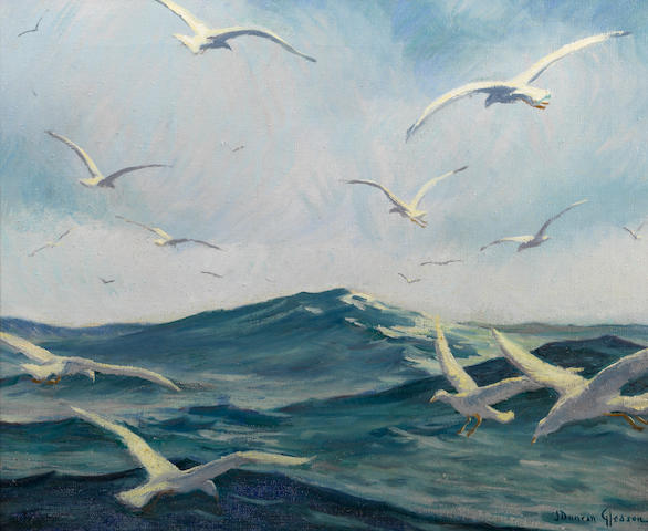Joe Duncan Gleason (American, 1881-1959) Gulls  16 x 20in