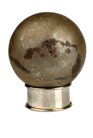 METEORITE SPHERE. Large etched iron-nickel meteorite sphere,
