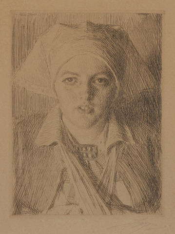 Anders Zorn, Guilli, drypoint