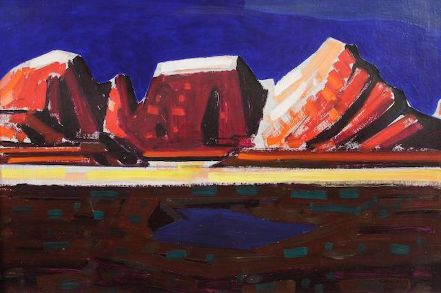 Conrad Buff (American, 1886-1975) Mountain landscape
