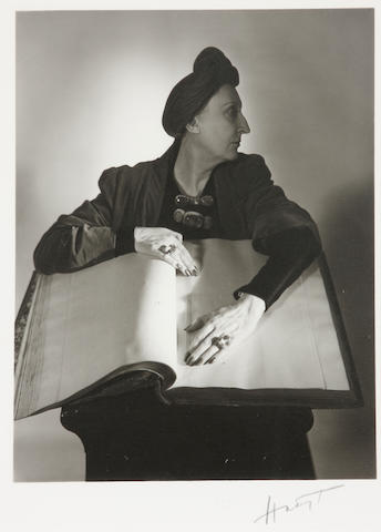 Horst P. Horst (German/American, 1906-1999); Dame Edith Sitwell;