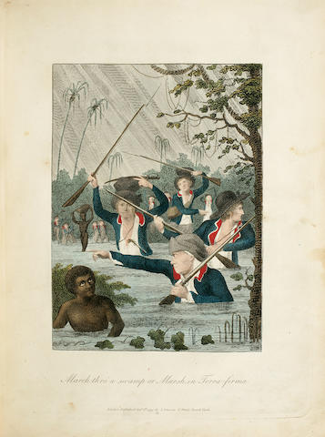 STEDMAN, JOHN GABRIEL. 1744-1797. Narrative of a Five Years' Expedition, against the Revolted Negroes of Surinam, in Guiana, on the Wild Coast of South America; from the Year 1772, to 1777.... London: J. Johnson, 1796.