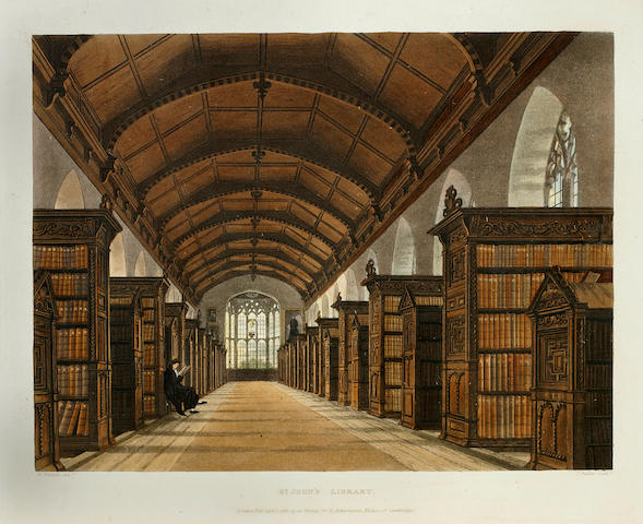ACKERMANN, RUDOLPH, publisher. A History of the University of Cambridge, its Colleges, Halls, and Public Buildings. London: R. Ackermann, 1815.
