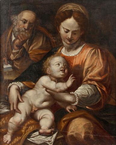 Italian School, 18th Century The Madonna and child 31 x 25