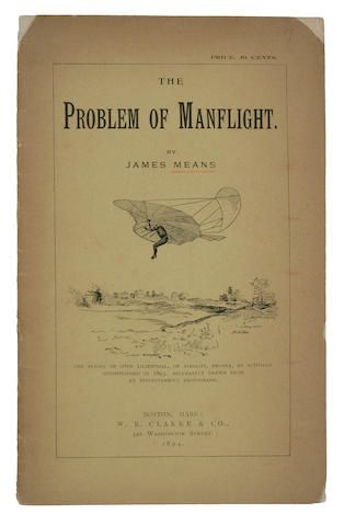 MEANS, JAMES The problem of manflight 1894