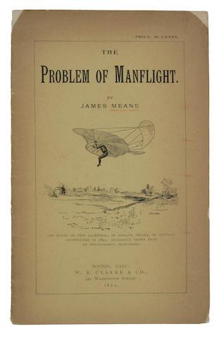 MEANS, JAMES The problem of manflight 1894