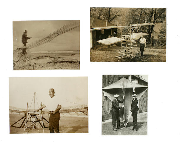 AMERICAN INVENTOR-PIONEERS. Group of 4 black and white photographs,