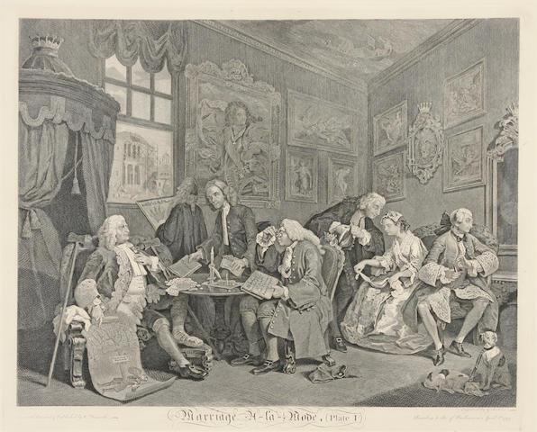 After William Hogarth (British, 1697-1764); Marriage à la Mode; (6)