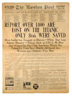 A collection of newspapers relating to the tragic sinking of the R.M.S. <i>Titanic</i>