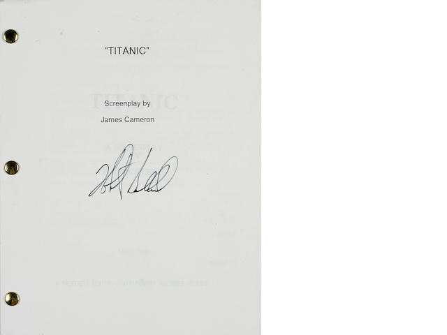A 1997 'Titanic' movie script signed by Robert Ballard
