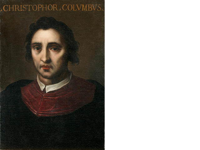 [COLUMBUS, CHRISTOPHER. 1451-1506.] Portrait of Christopher Columbus, Italian School, 17th Century,