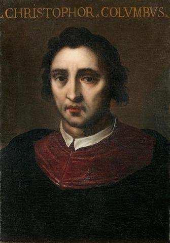 [COLUMBUS, CHRISTOPHER. 1451-1506.] Portrait of Christopher Columbus, Italian School, 17th Century,