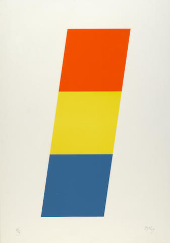 Ellsworth Kelly (American, born 1923); Red-Orange/Yellow/Blue;