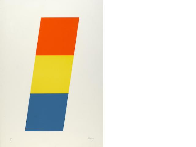 Ellsworth Kelly (American, born 1923); Red-Orange/Yellow/Blue;