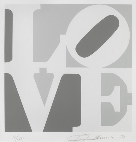 Robert Indiana (American, born 1928); Grey Love, from Book of Love;