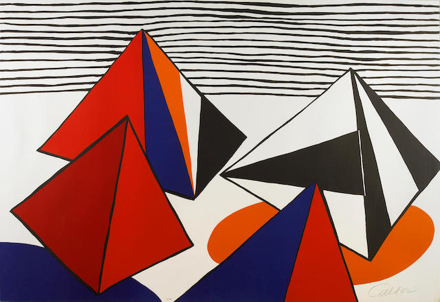 Alexander Calder (American, 1898-1976); Untitled (Pyramids and Stripes);