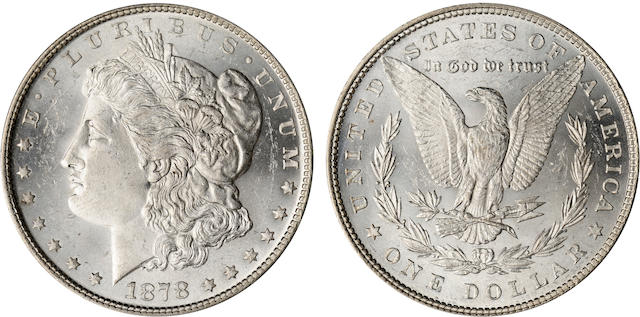 1878 7 Tailfeathers $1, Reverse of 1879