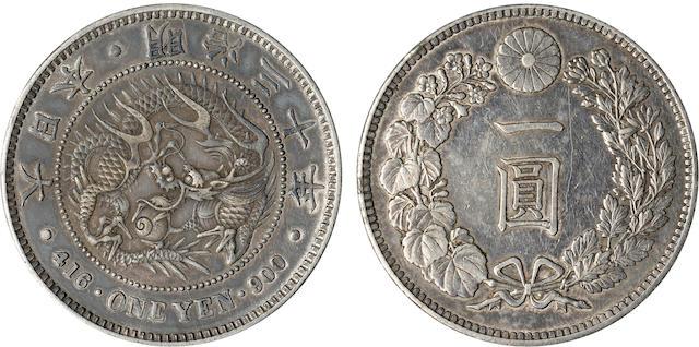Japan, 1 Yen, 1897