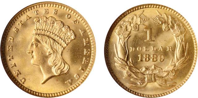 1889 G$1 MS66 NGC