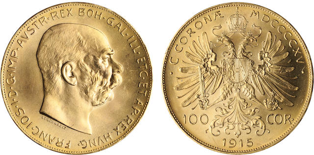 Austria, 100 Corona, 1915 (Restrike)