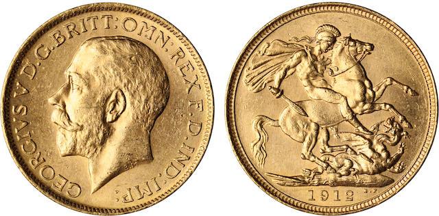 Australia, George V, Sovereign, 1912-S