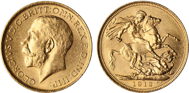 Australia, George V, Sovereign, 1912-S