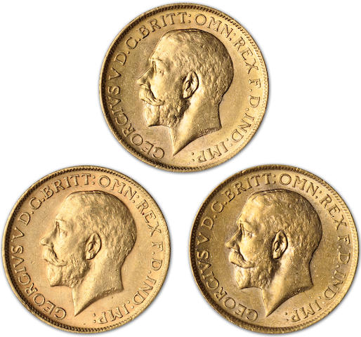 Australia, George V, Sovereigns, 1913-M (3)