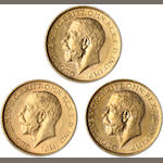 Australia, George V, Sovereigns, 1913-M (3)