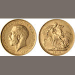 Australia, George V, Sovereign, 1913-S