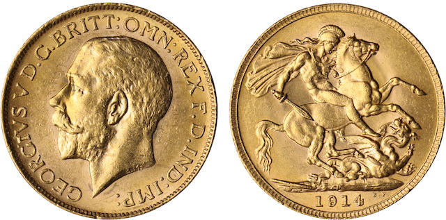Australia, George V, Sovereign, 1914-P