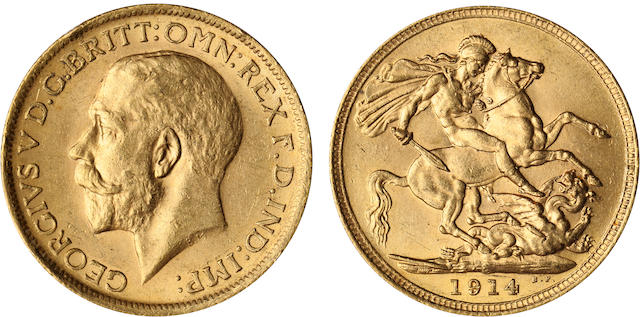 Australia, George V, Sovereign, 1914-S