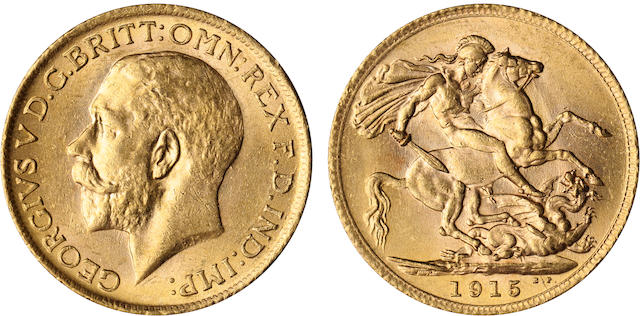 Great Britain, George V, Sovereign, 1915