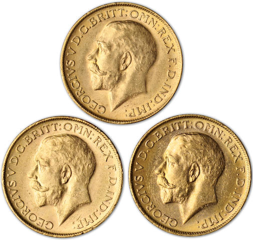 Australia, George V, Sovereigns, 1915-M (3)
