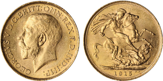 Australia, George V, Sovereign, 1915-S