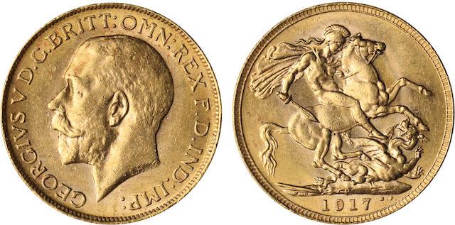 Australia, George V, Sovereign, 1917-P