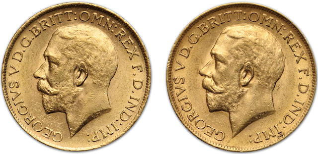 Australia, George V, Sovereigns, 1917-S (2)