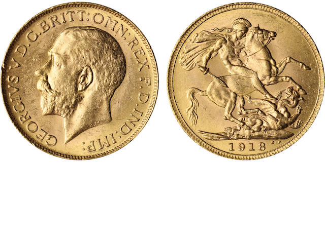 Canada, George V, Sovereign, 1918-C