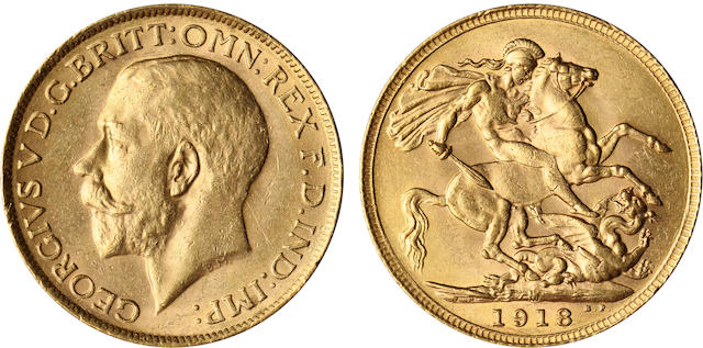 Australia, George V, Sovereign, 1918-M