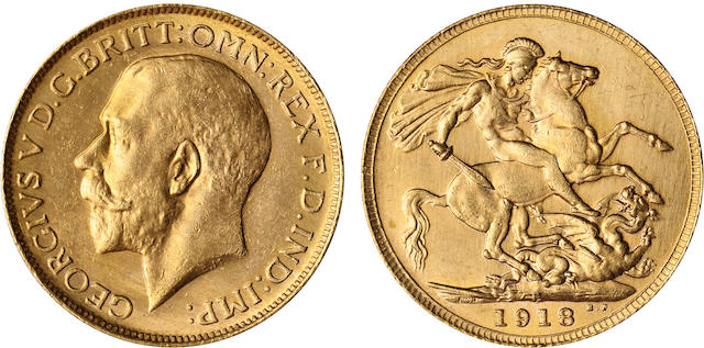 Australia, George V, Sovereign, 1918-P