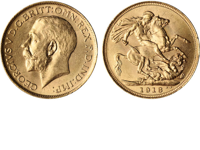 Australia, George V, Sovereign, 1918-S
