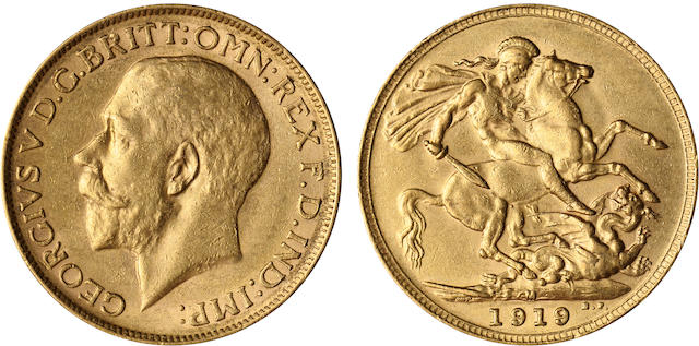 Australia, George V, Sovereign, 1919-M
