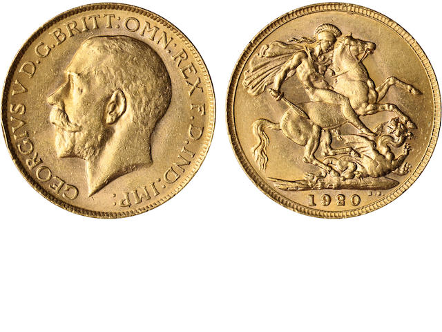 Australia, George V, Sovereign, 1920-P