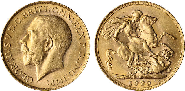 Australia, George V, Sovereign, 1920-P