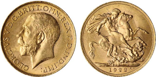 Australia, George V, Sovereign, 1922-P